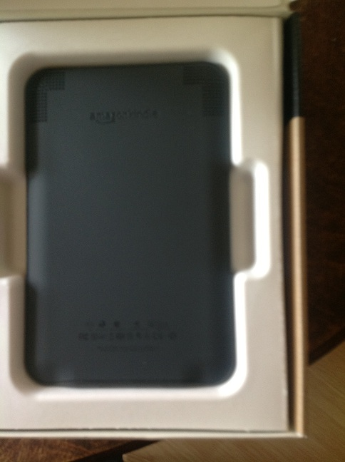 Image of back of Kindle